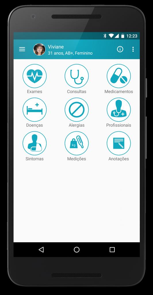 Screenshot do aplicativo Saúde em Dia